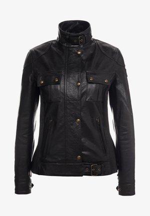GANGSTER - Kožená bunda - black