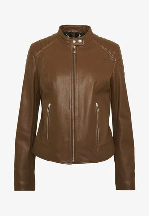 MOLLISON JACKET - Veste en cuir - light brown