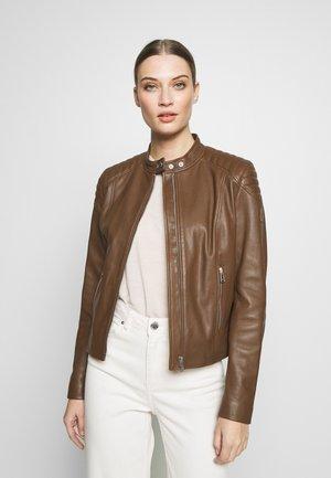 MOLLISON JACKET - Leather jacket - light brown