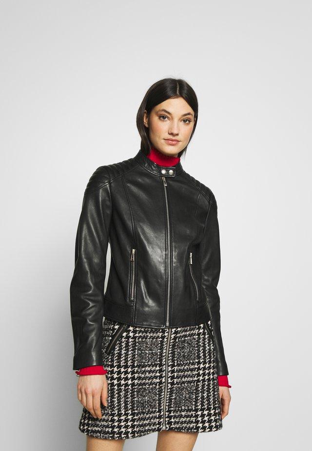 MOLLISON JACKET - Leather jacket - black