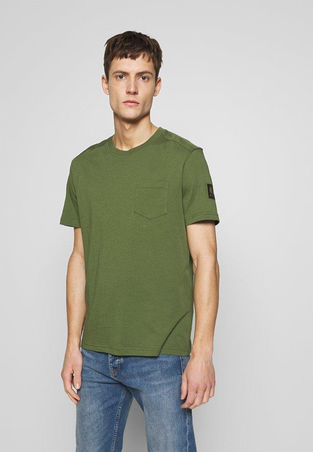 THOM - Jednoduché triko - olivine
