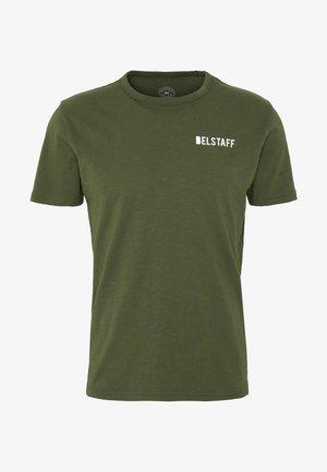 BELSTAFF CHECKERED BORDER GRAPHIC - Print T-shirt - rifle green
