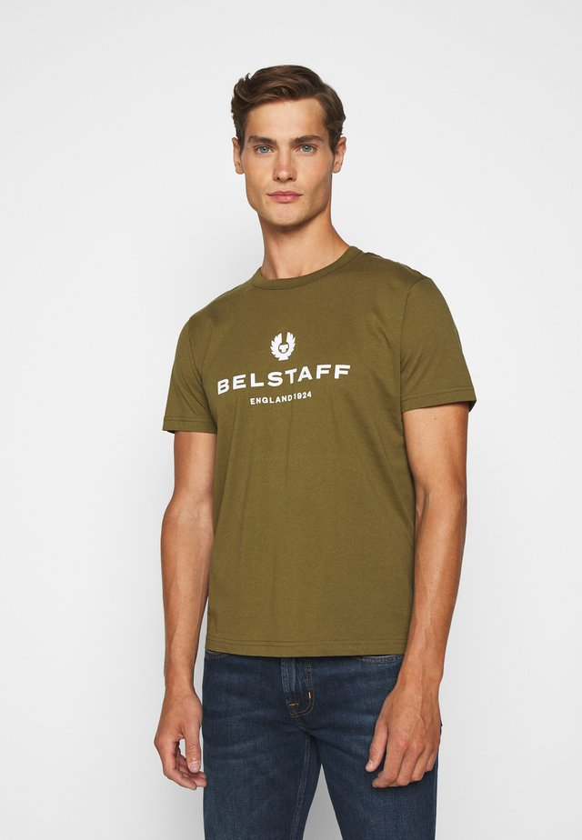 T-shirt con stampa - salvia
