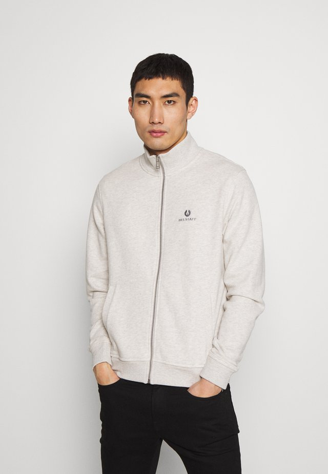 ZIP THROUGH - Hoodie met rits - heather grey melange