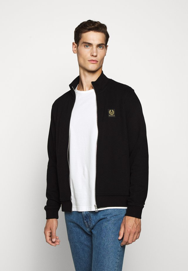 ZIP THROUGH - Bluza rozpinana - black