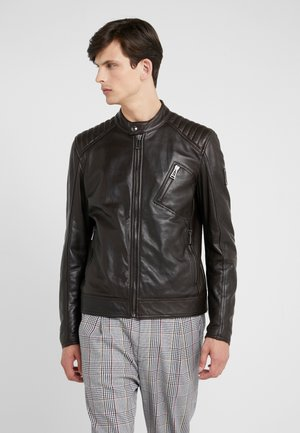 RACER - Veste en cuir - dark brown