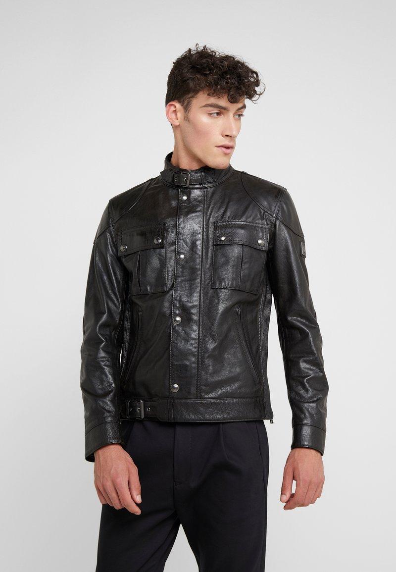 Belstaff - GANGSTER JACKET - Veste en cuir - black