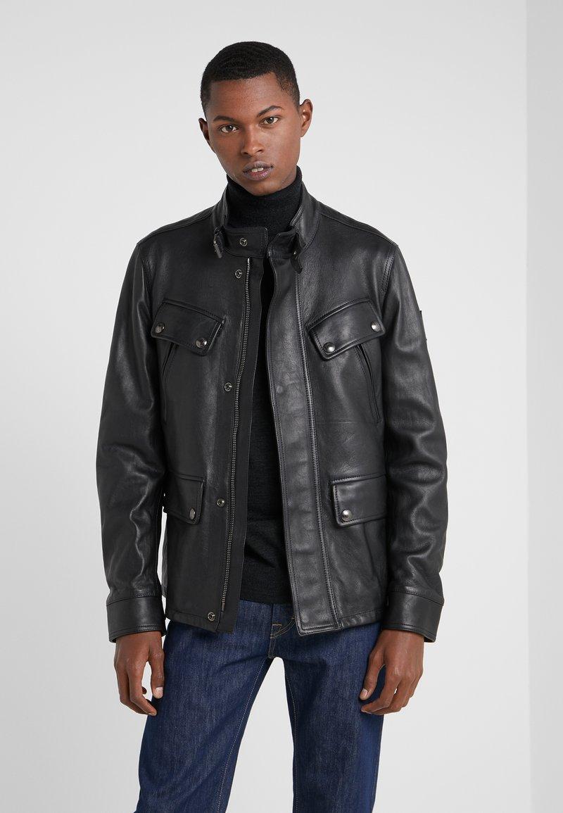 Belstaff - DENESMERE JACKET - Veste en cuir - black
