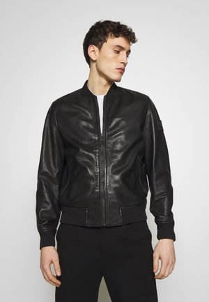 BAYLING JACKET - Veste en cuir - black