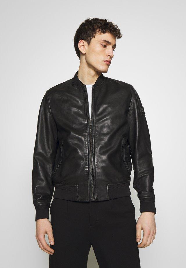 BAYLING JACKET - Leather jacket - black