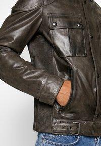 Belstaff - GANGSTER - Veste en cuir - sage green - 5