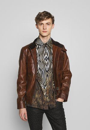 GANGSTER - Leather jacket - cognac