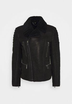 FRASER JACKET - Leather jacket - black