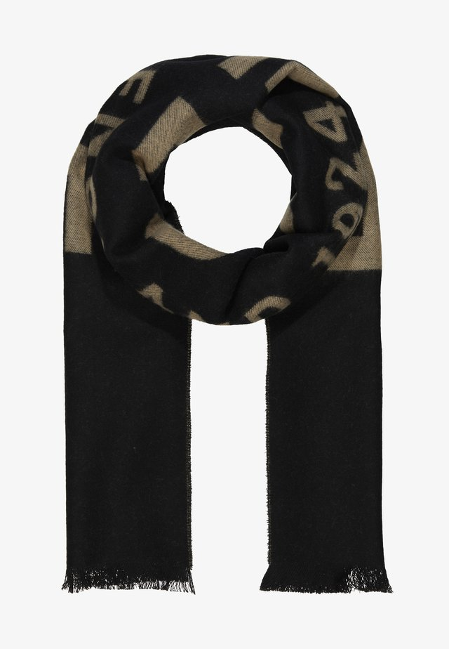 1924 SCARF - Huivi - black/gold