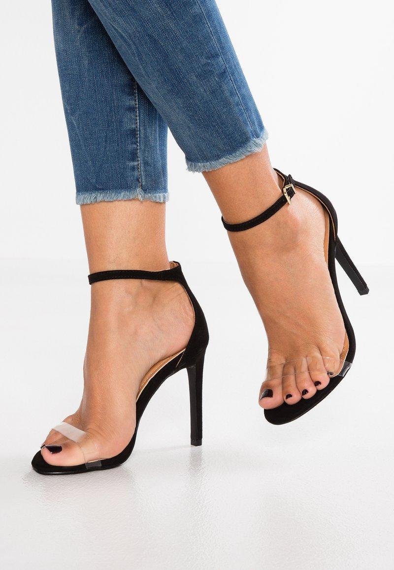 BEBO - High heeled sandals - clear/black