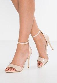 BEBO - GINNY - Sandály na vysokém podpatku - nude - 0
