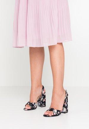 MALORY - Sandály na vysokém podpatku - black
