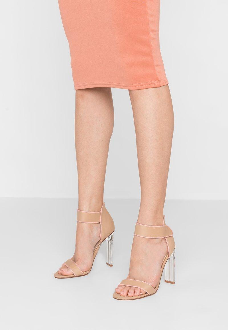 BEBO - VESPER - Sandály na vysokém podpatku - nude/pink