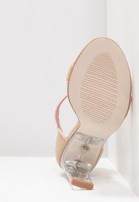 BEBO - VESPER - Korolliset sandaalit - nude/pink - 6