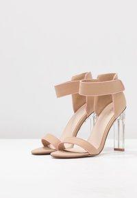 BEBO - VESPER - Korolliset sandaalit - nude/pink - 4