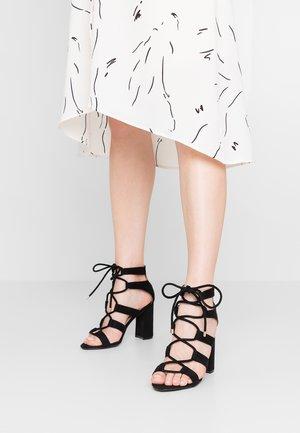 DEBORA - Sandály na vysokém podpatku - black