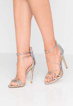 MILA - Sandály na vysokém podpatku - silver metallic