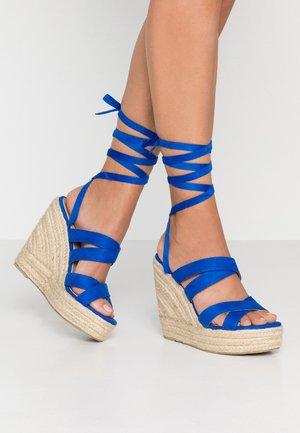 DESIRE - High heeled sandals - cobalt blue