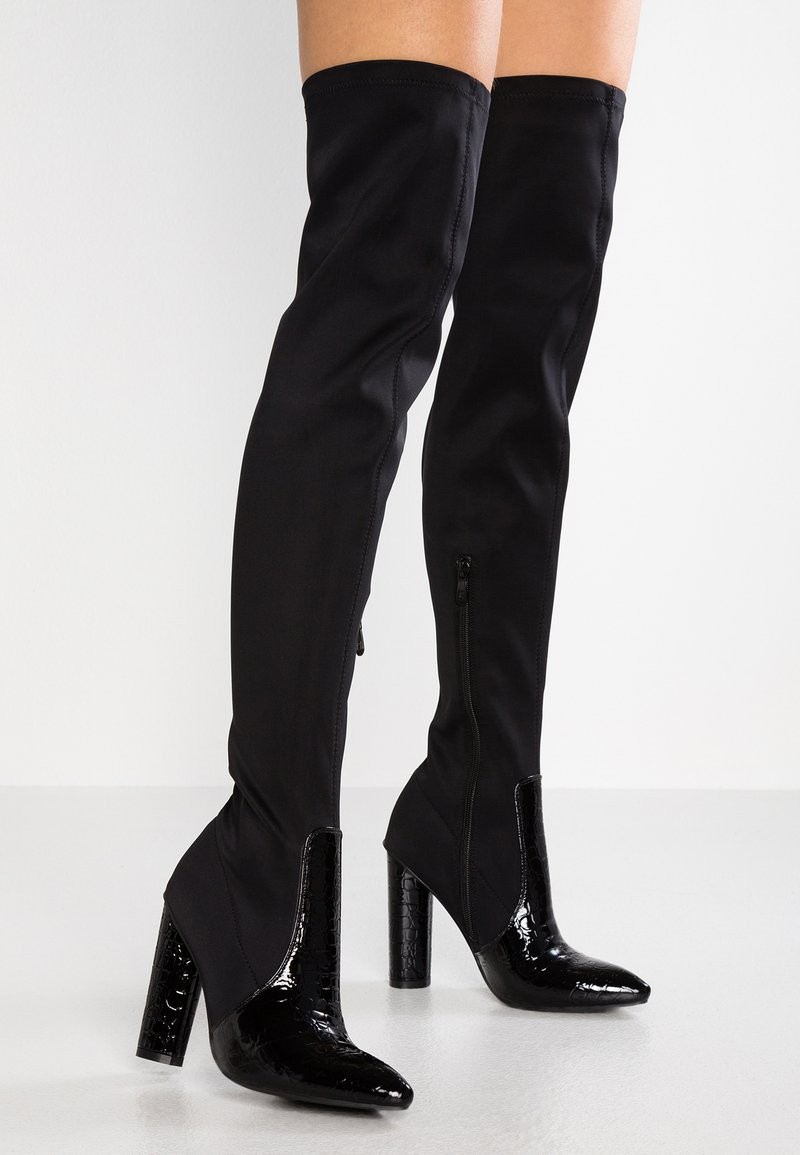 BEBO - TANIA - Laarzen met hoge hak - black