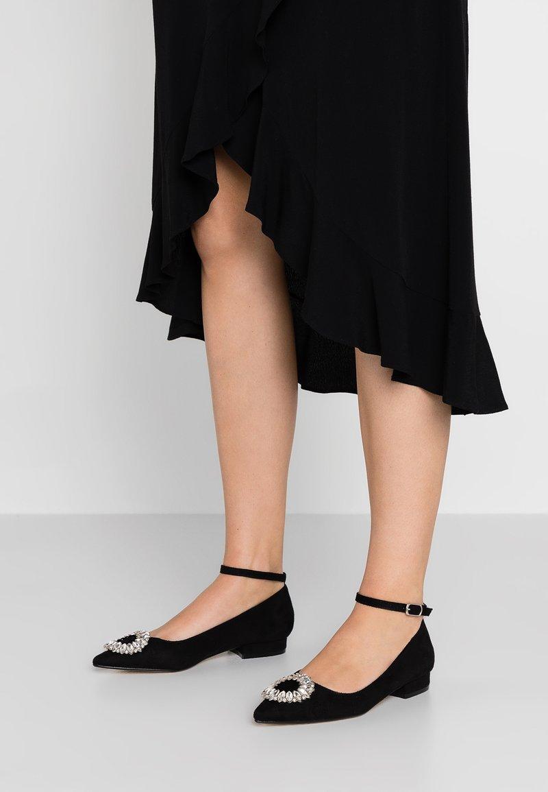 BEBO - DIONNE - Ankle strap ballet pumps - black