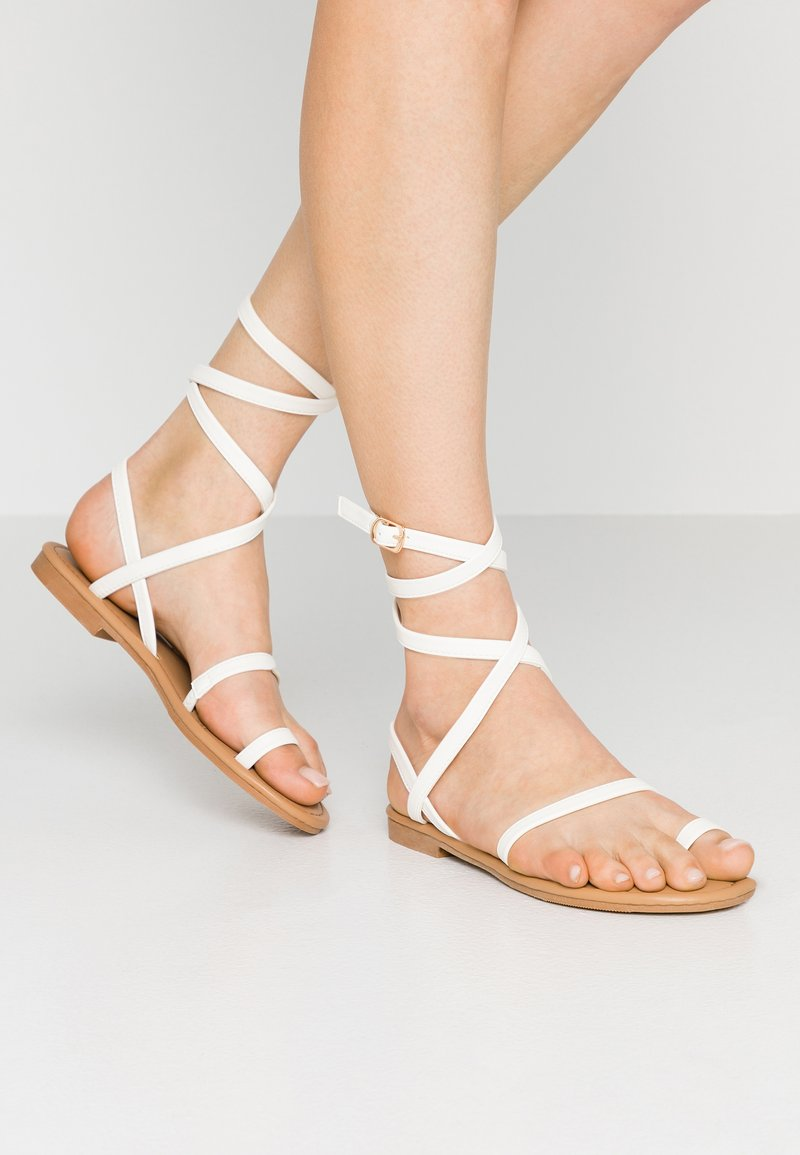 BEBO - KATHLEEN - T-bar sandals - white