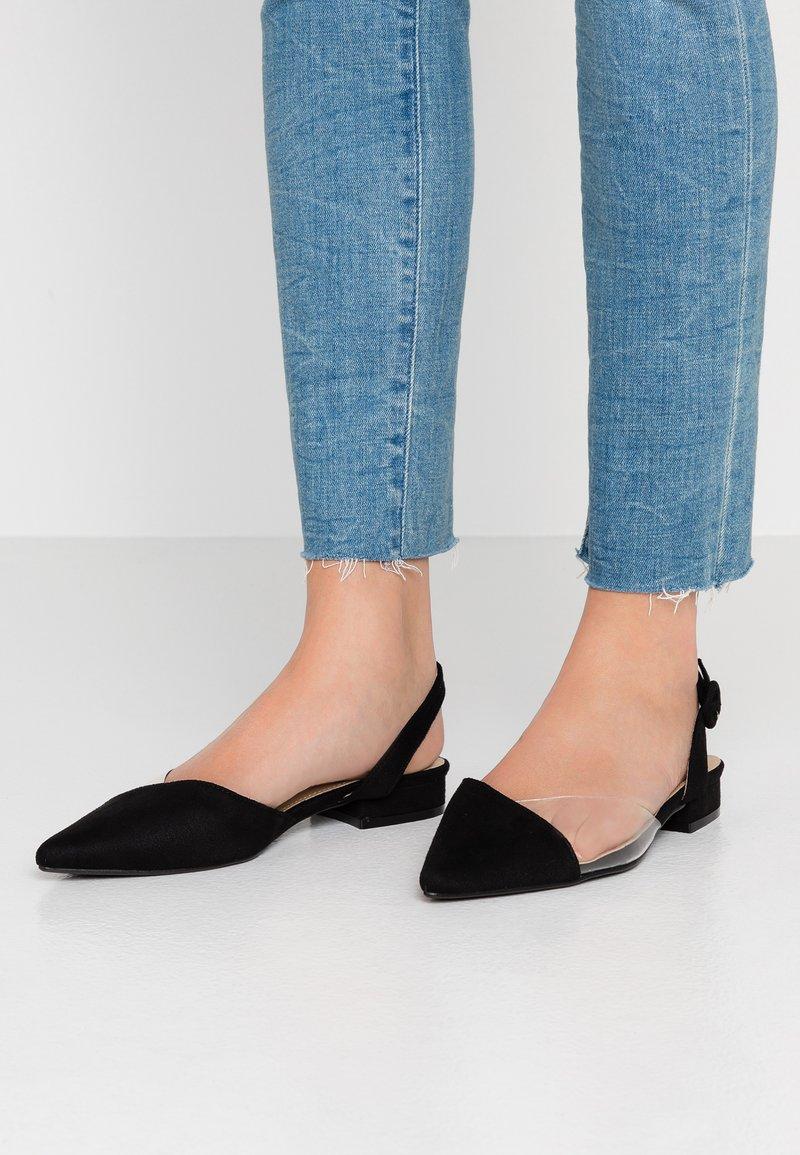 BEBO - JESSE - Slingback ballet pumps - clear/black