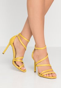 BEBO - OSSIAN - High heeled sandals - yellow - 0