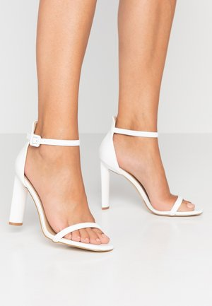 CLAIRE - High heeled sandals - white