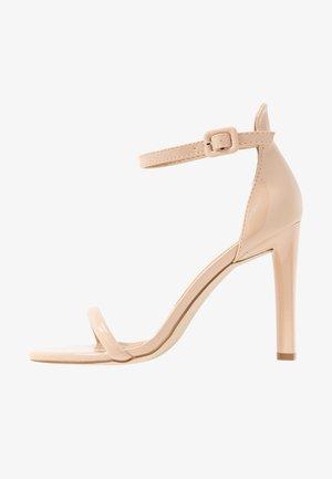 CLAIRE - Sandály na vysokém podpatku - nude