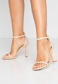 BEBO - CLAIRE - Sandaler med høye hæler - nude - 0