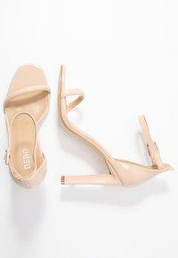 BEBO - CLAIRE - Sandaler med høye hæler - nude - 3