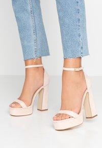 BEBO - LUCY - Sandály na vysokém podpatku - nude - 0