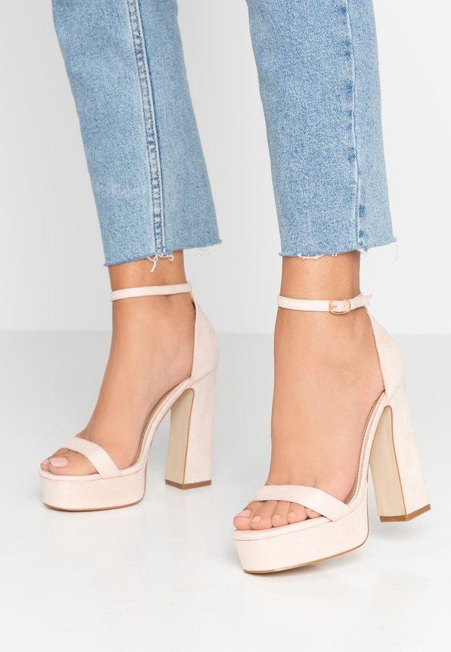 LUCY - Sandály na vysokém podpatku - nude