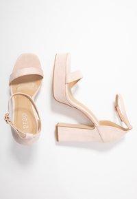 BEBO - LUCY - Sandály na vysokém podpatku - nude - 3