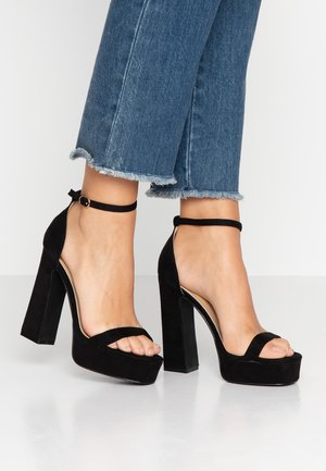LUCY - High heeled sandals - black