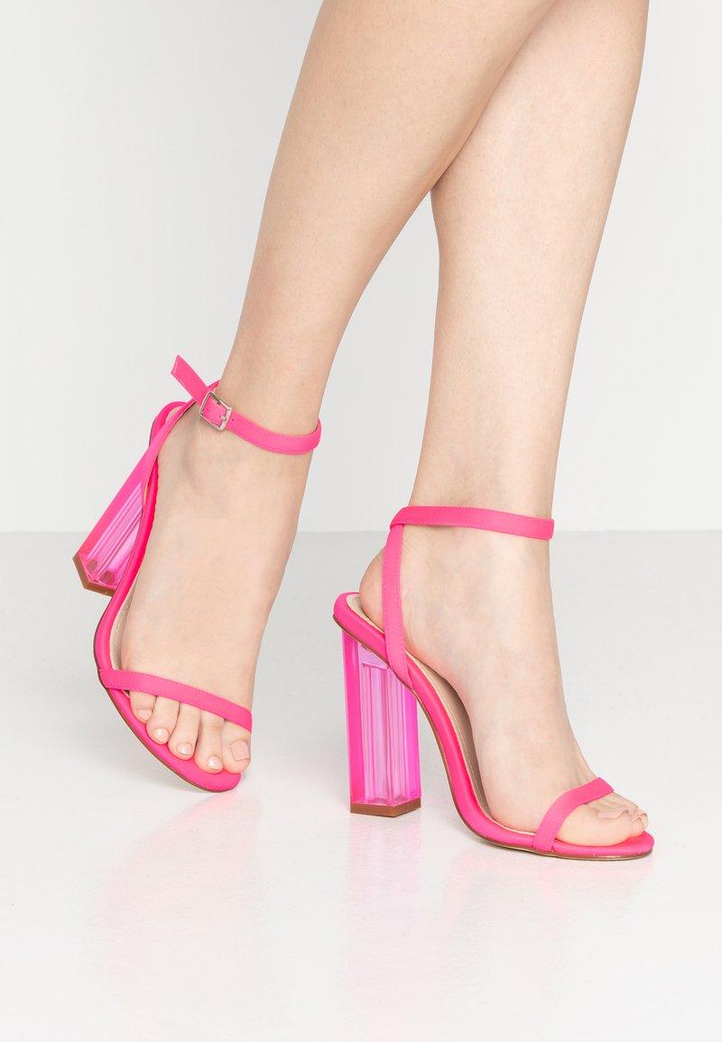 BEBO - ELAINA - Højhælede sandaletter / Højhælede sandaler - neon pink