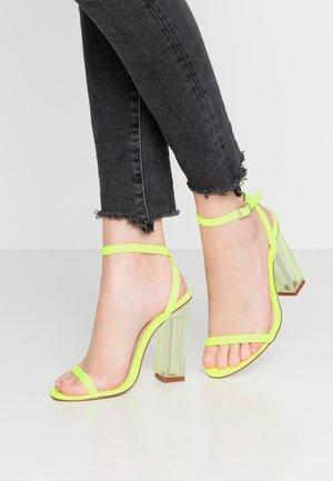 ELAINA - High Heel Sandalette - neon green