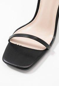 BEBO - MIYA - Korolliset sandaalit - black - 2