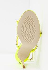 BEBO - SOPHINA - High heeled sandals - neon green - 6