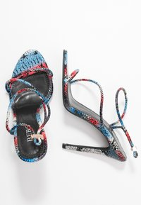 BEBO - ZION - High heeled sandals - blue/multicolor - 3