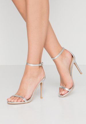 LISA - High heeled sandals - silver metallic