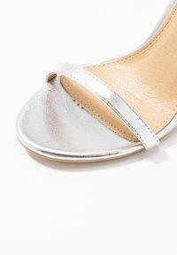 BEBO - LISA - Sandály na vysokém podpatku - silver metallic - 2