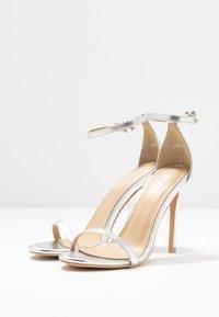 BEBO - LISA - Sandály na vysokém podpatku - silver metallic - 4