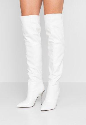 ENSLEY - Kozačky na vysokém podpatku - white