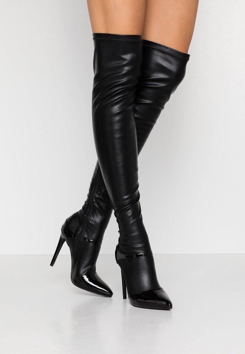 BEBO - OLERIA - Boots med høye hæler - black